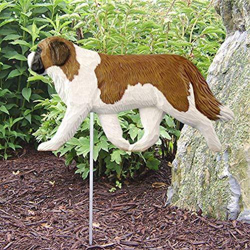 Ky & Co YesKela St. Bernard Outdoor Garden Dog Sign Hand Painted - Bernard Statue