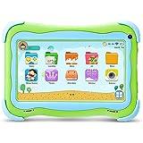 YUNTAB Q91 Tablet infantil de 7 pulgadas (Android 5.1, Quad-Core,Allwinner A33, WiFi, Bluetooth, HD 1024x600, 1+16GB , Tarjeta TF 32 GB, Doble Cámara, Google Play, Juegos Educativos) (Q91, GREEN)