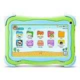 YUNTAB Q91 Tablet infantil de 7 pulgadas (Android 5.1, Quad-Core,Allwinner A33, WiFi, Bluetooth, HD 1024x600, 8GB ROM, Tarjeta TF 32 GB, Doble Cámara, Google Play, Juegos Educativos) (Q91, GREEN)