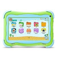 Yuntab Q91 Tablette enfant 7 pouces Allwinner A33 HD 1024 X 600 Tablette PC Android 5.1 16 Go WiFi intégré Iwawa logiciel Youtube Jeux Éducatif (vert)