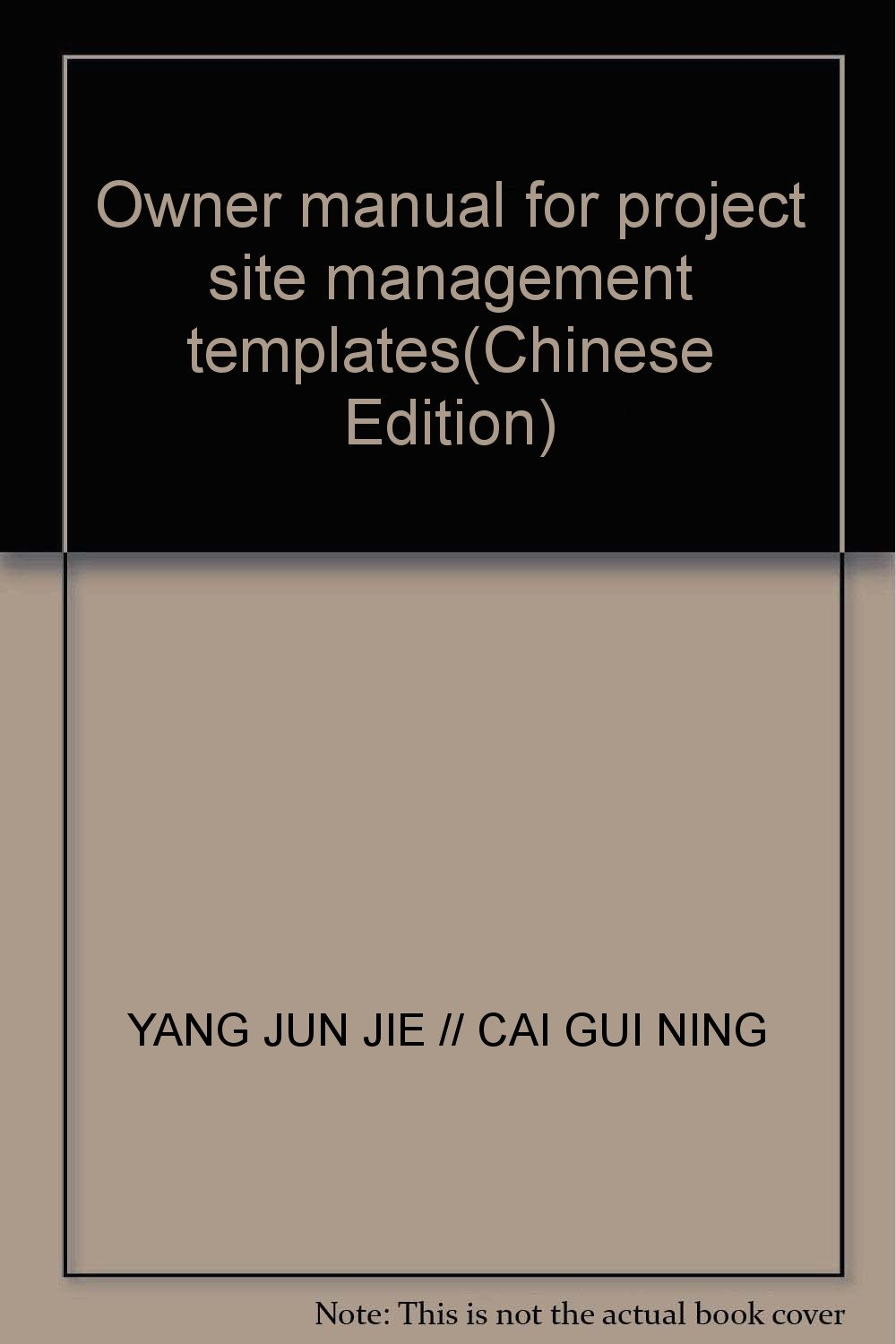 Owner manual for project site management templates(Chinese Edition) pdf epub