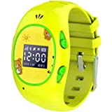 GPS Tracker Kids Smart Watch Phone, Phone Watch for Kids, Hipo GSM module SIM Solt Pedometer Remote Monitory SOS Camera Smartwatch Boys Girls Children Halloween Cybery Monday Holiday (Yellow)