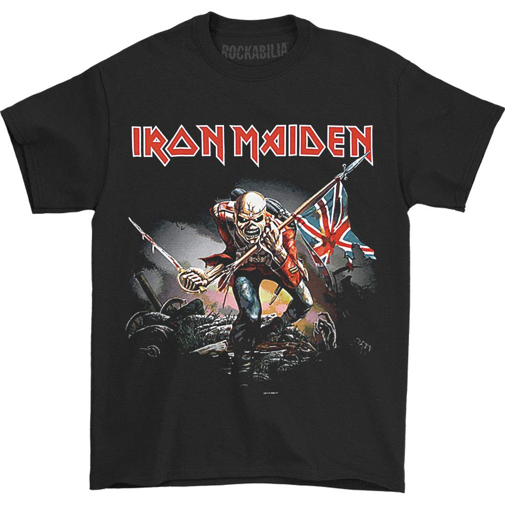 48155ebb6768 Amazon.com: Global Iron Maiden Men's The Trooper T-shirt Black: Clothing