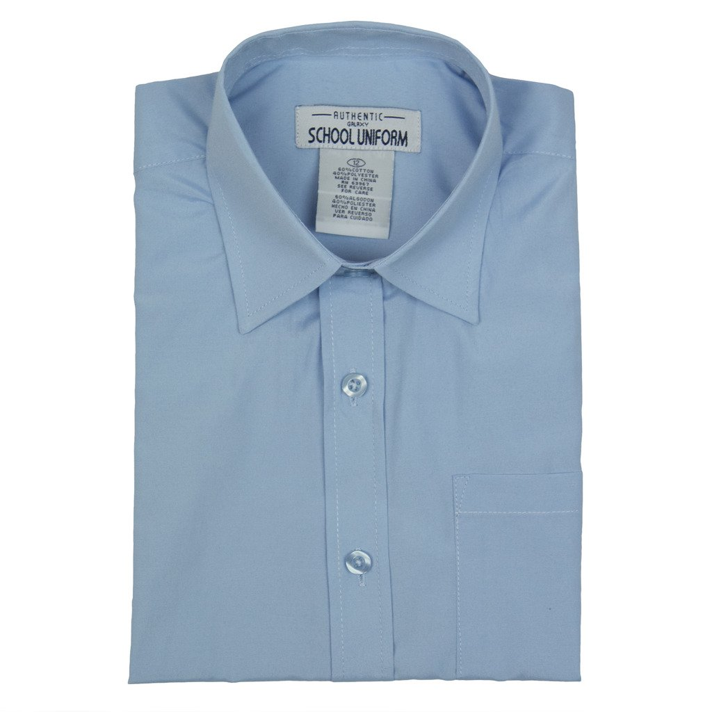 e473e06f678 Amazon.com  Authentic Galaxy Boys School Uniforms Short Sleeve Broadcloth  Shirt  Clothing