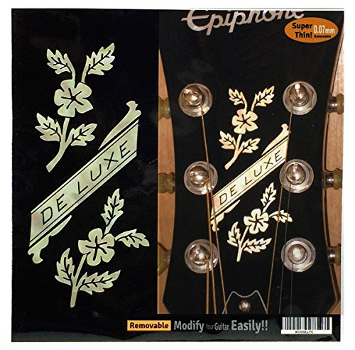 Headstock Decal (Inlay Sticker Decal Guitar Headstock In MOP Theme - Epiphone De Luxe Flowers)