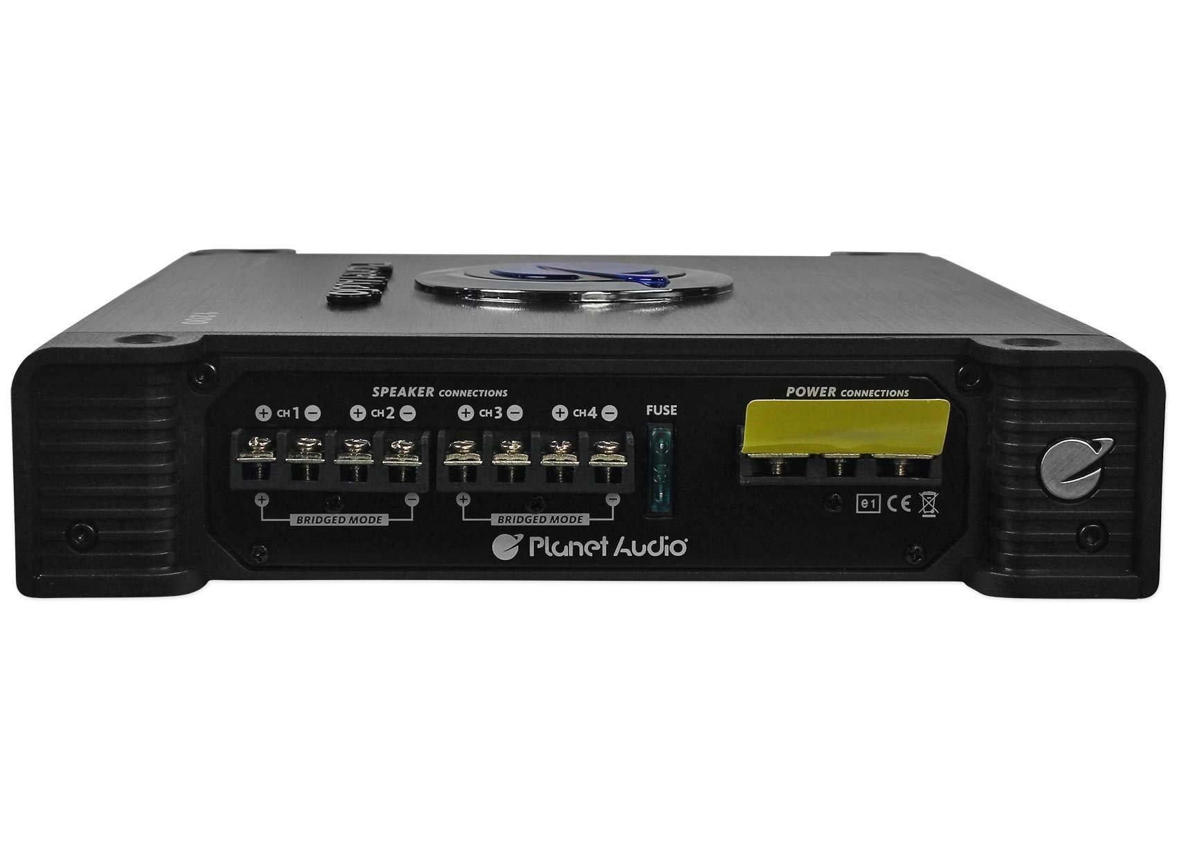 Planet Audio Anarchy AC1200.4 1200 Watt 4 Channel Car Amplifier+Amp Kit by Planet Audio (Image #5)