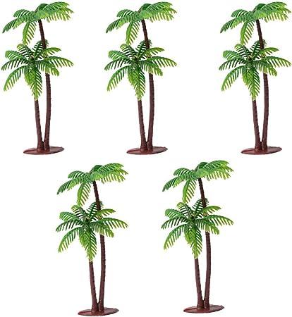 Happyhouse009 - Adorno en Miniatura de Palmera de Coco, Accesorios de Paisaje bonsái, Adorno de Resina para decoración de casa de muñecas de jardín, Resina, 5 Unidades: Amazon.es: Hogar