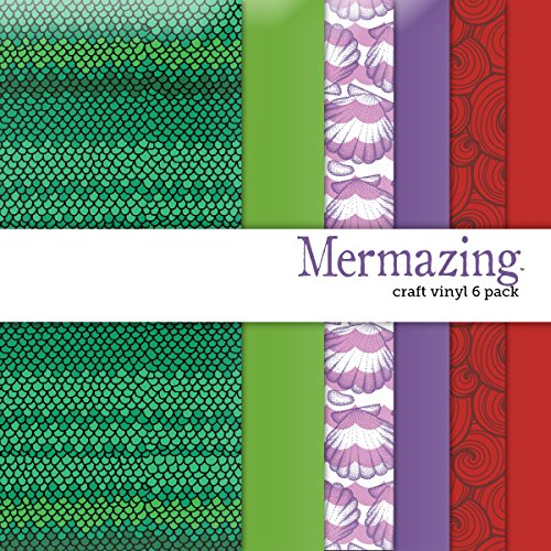 Mermazing Multi-pack Printed Craft Vinyl 6 Sheets 12x12 for Vinyl Cutters