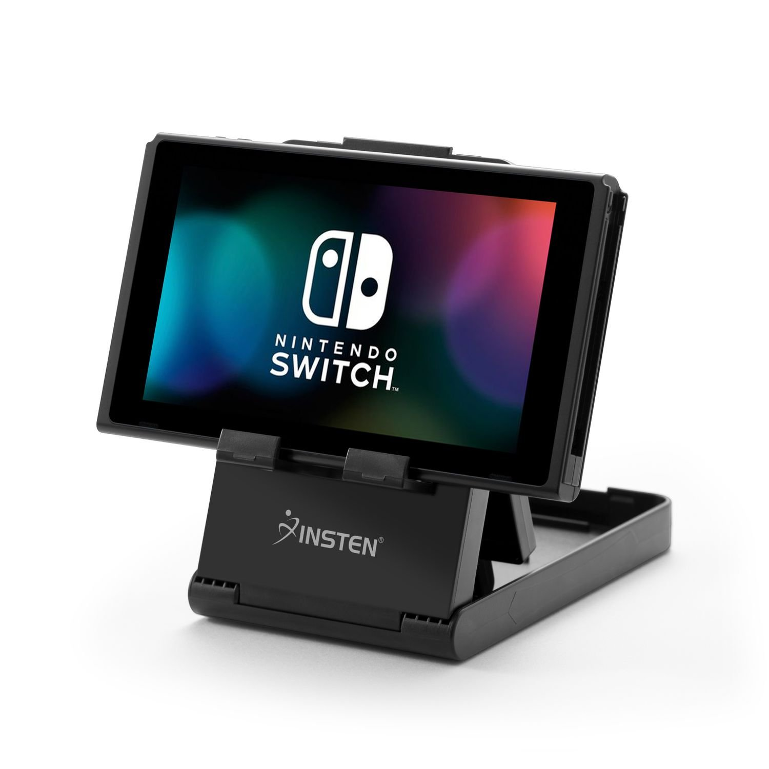 Insten Portable Playstand Compatible with Nintendo Switch / Lite, Compact Design Desktop Play Stand with Multi Viewing Angle, Also Compatible with Cell Phone Tablet iPad iPhone XR XS Max X 8 7 6s Plus by INSTEN
