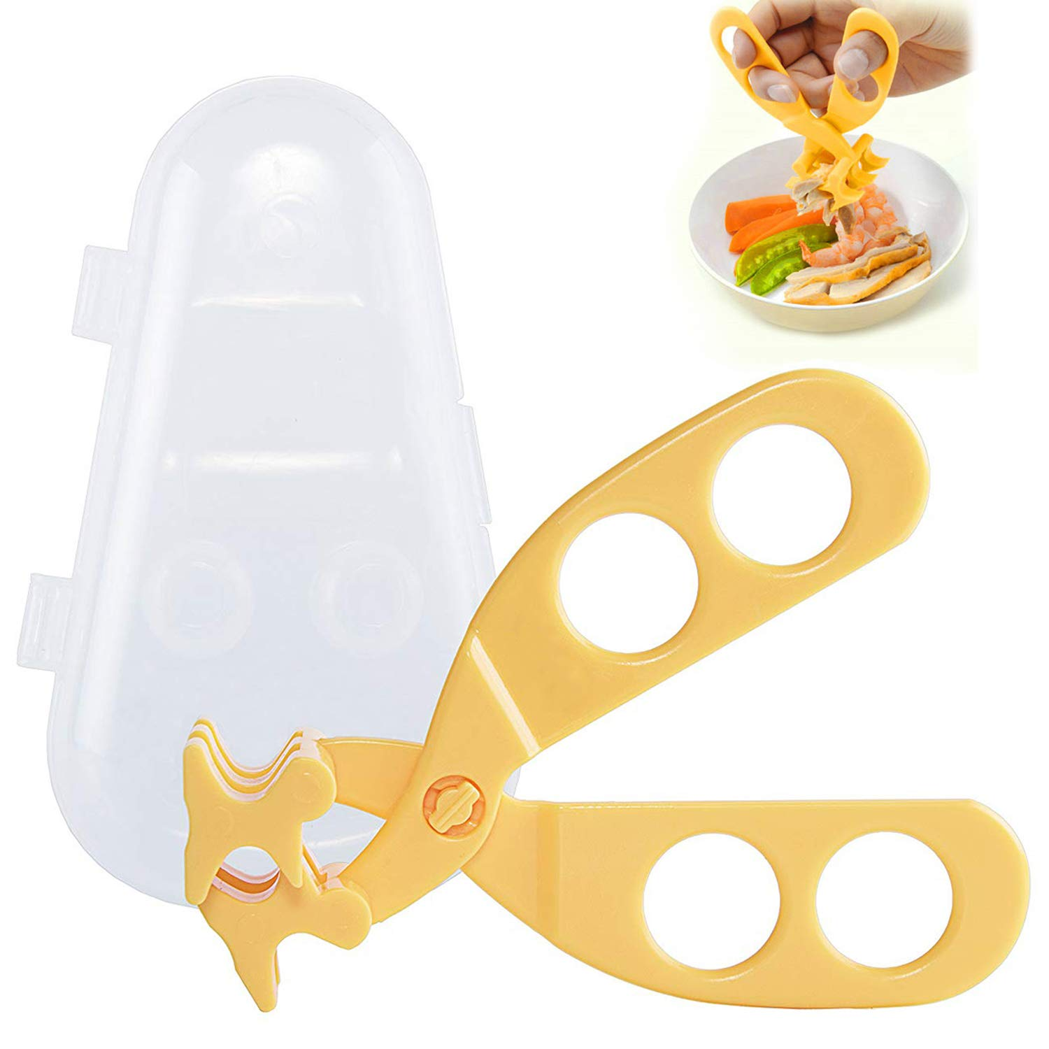 OBloved Baby Food Scissor Cutter, Multifunction Masher Grinder Chopper Crusher, Home and Kitchen Food Slicer Shears, Safe Feeding Tool with Travel Storage Case, Perfect for Babies & Toddlers