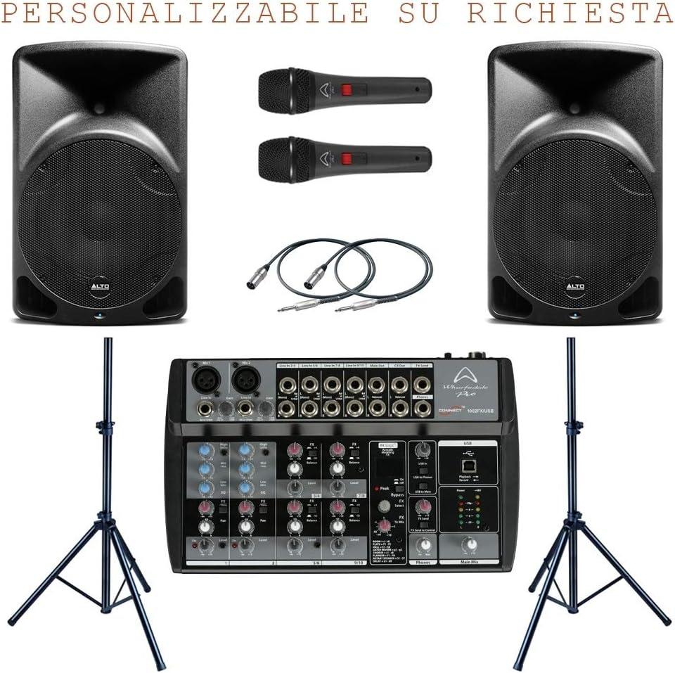 Sistema de Audio 839 Pack (Batidora, Micrófonos, Altavoces ...