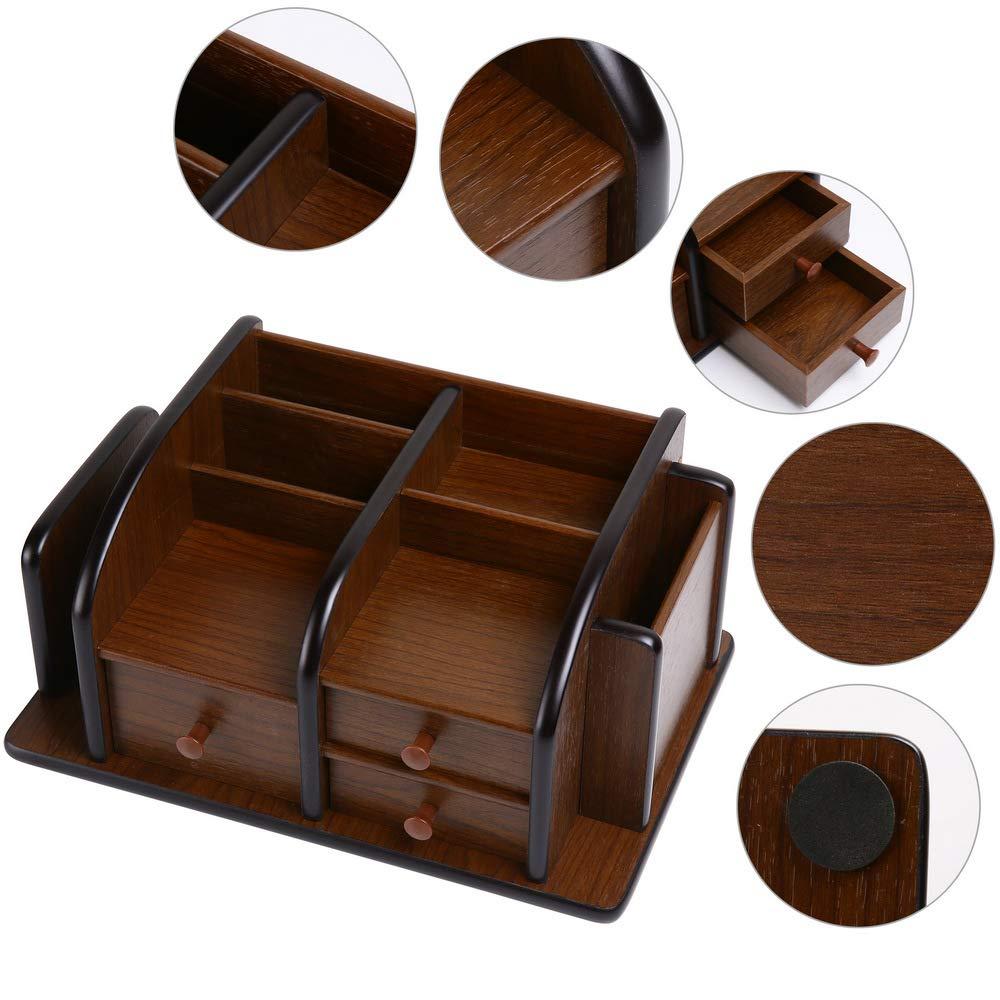 Siveit Wooden Desk Organizer, Wood Desktop Organizer with 3 Drawers 2 Shelves and 3 Compartments Office Supplies Holder Desk Accessories (Desk Organizer-3+3+2) by Siveit (Image #7)