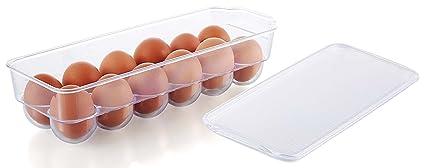Amazoncom Kuuk Fridge Egg Tray Holder Container Box for 12 Large