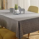 HOMEE Simple modern lattice living room restaurant dining table fabric rectangular tablecloth, Christmas decorations,B,80X120cm