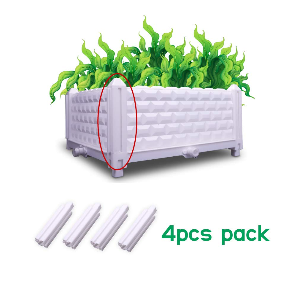 ZOOOBELIVES DIY Multiple Combination Assembly Planter Boxes 2Pack Garden//Balcony//Backyard//Rooftop Kit 2pack