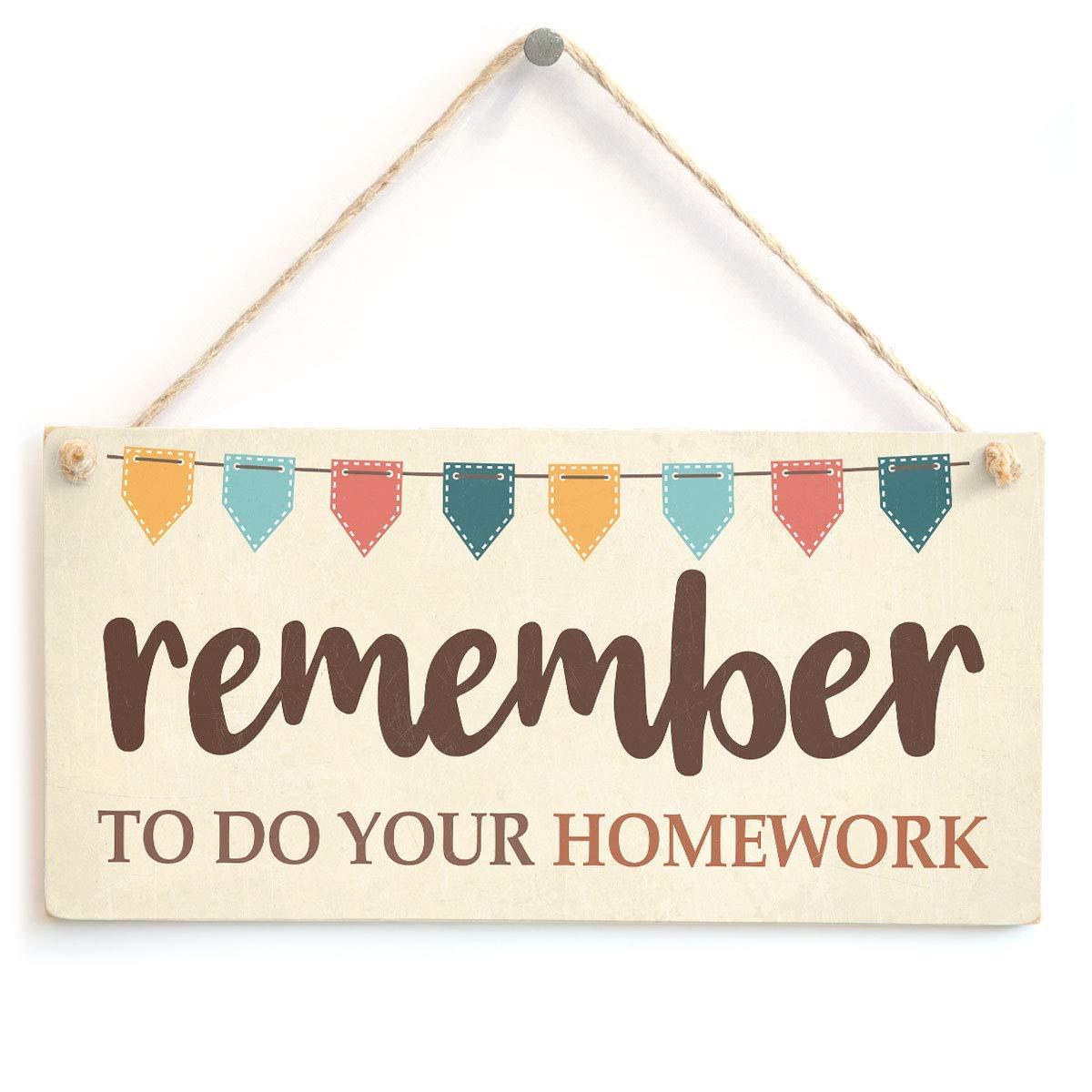 Jiokare Remember to Do Your Homework Jardín Placa Colgante ...