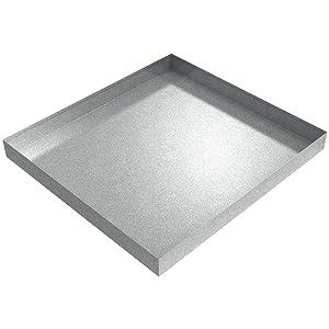 """27"""" x 25"""" Compact Washing Machine Drip Pan (Galvanized Steel)"""