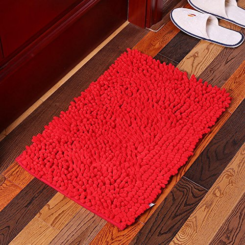 Emollient Absorbent Soft Mat Carpets Mats & Rugs - Kc-334 40x60cm Chenille Rough Hair Soft Mat Machine Washable Bathroom Anti Slip Absorbent Carpet Doormat - Woolly Compressible - 1PCs