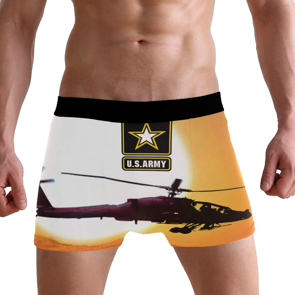 S-XL Abbylife US Army American Military Mens Underwear Boxer Briefs
