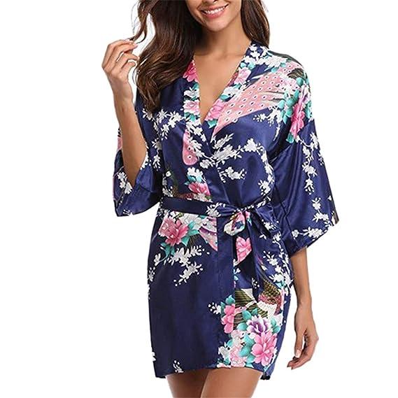 HCFKJ Sexy Mujer Erotica Ropa Interior Moda Chaqueta Pijama Estampado con CinturóN Vestido Set Inicio Desgaste: Amazon.es: Ropa y accesorios