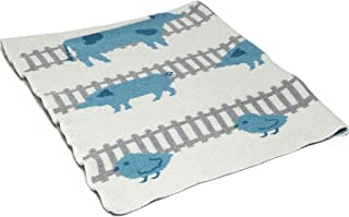 product image for in2green Baby Farm Animals Eco Throw - Aqua