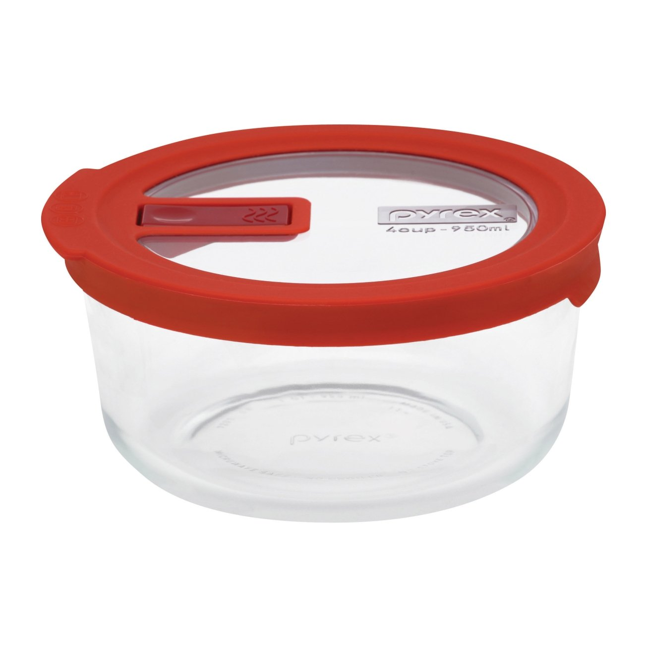 Charmant Amazon.com: Pyrex No Leak Lid 7 Cup Round Storage Container U2011 Red: Kitchen  U0026 Dining