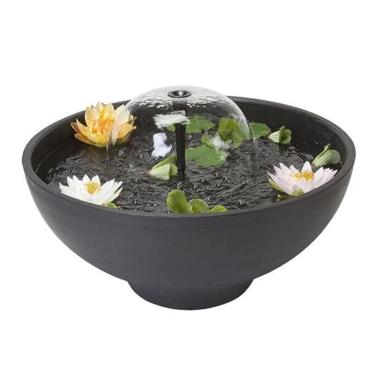 Velda Mini étang avec fontaine fontaine Décoration de jardin ronde ...