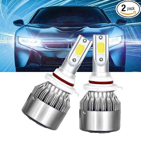 H4 LED COB Luces Delanteras del Coche Kit 3800LM 6000K L/ámparas de luz Blanca Bombillas