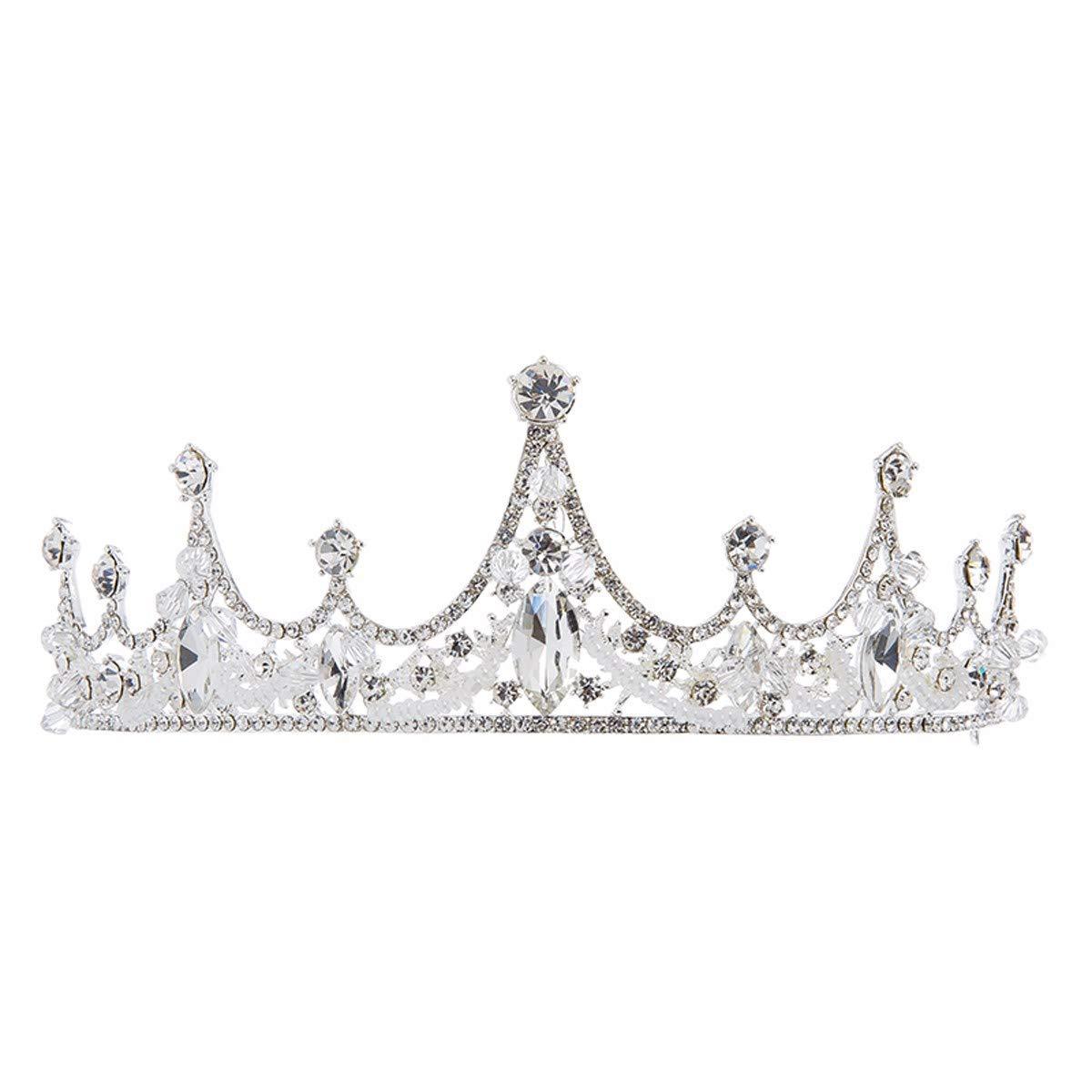 Girls Crown, Beautiful headdress/Crown Headwear Bridal Ornaments Wedding Accessories Crystal Ornaments.