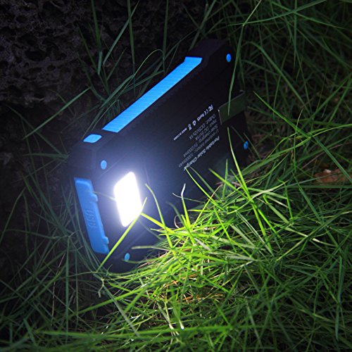 Innoo computer Solar Charger 10000mAh SUNPOWER Panel Outdoor Solar potential Charger two USB Port compact electrica Solar potential Bank Solar Battery Charger along with Led featherweight Waterproof Dust Proof and Shock protection Solar Chargers