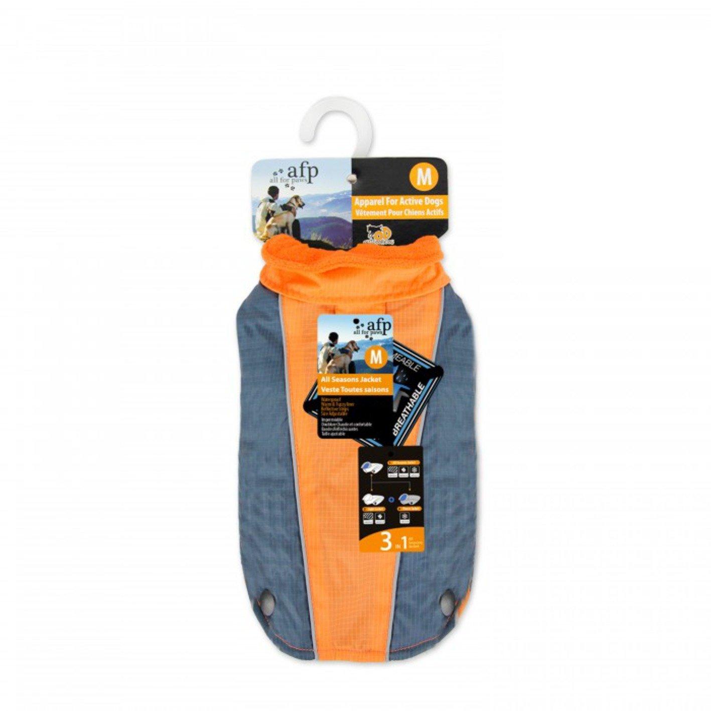 All for Paws All Season Jacket, Orange, Medium