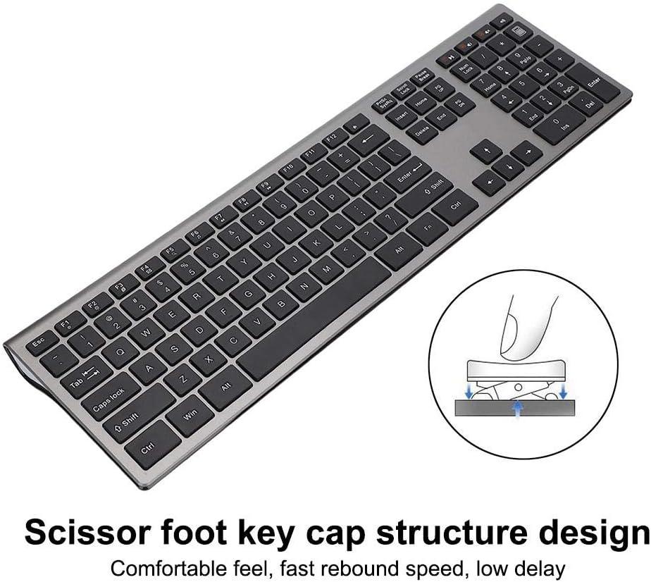 Wireless 2.4G USB Scissor Foot Key Cap LED Indication Keyboard Easy to use Tosuny Wireless Keyboard 16 Channels 109 Keys Ultra-Thin Keyboard