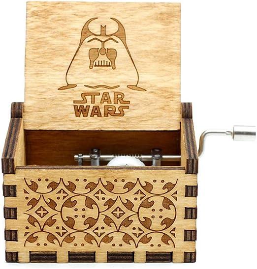 Mini caja de música de madera con manivela para mujer, diseño de ...