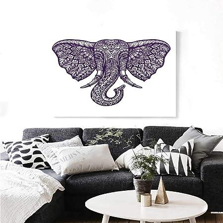 Warm Family Pinturas de Pared de Elefante Bohemio asiático ...