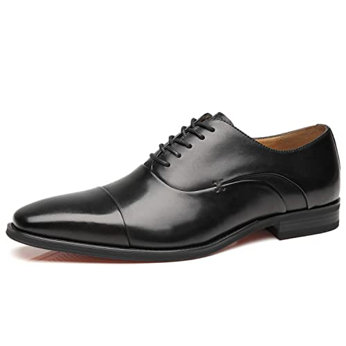 0076a8740985 La Milano Mens Cap Toe Oxford Leather Lace Up Classic Comfortable Modern  Formal Business Dress Shoes for Men