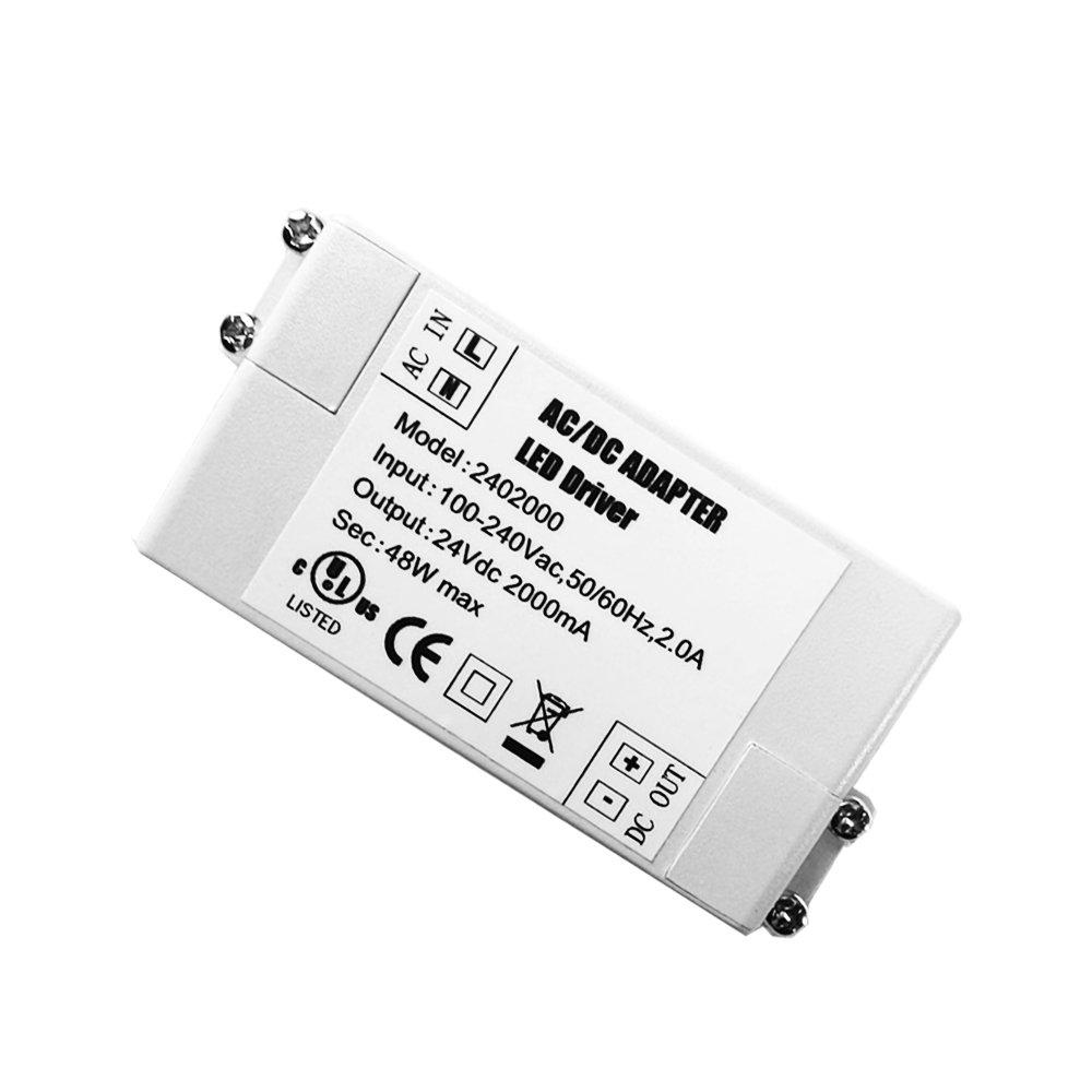 YAYZA! 1-Paquete Transformador de Conductor LED de Bajo Voltaje IP44 24V 1A 24W Fuente de Alimentació n Conmutada de CA/CC