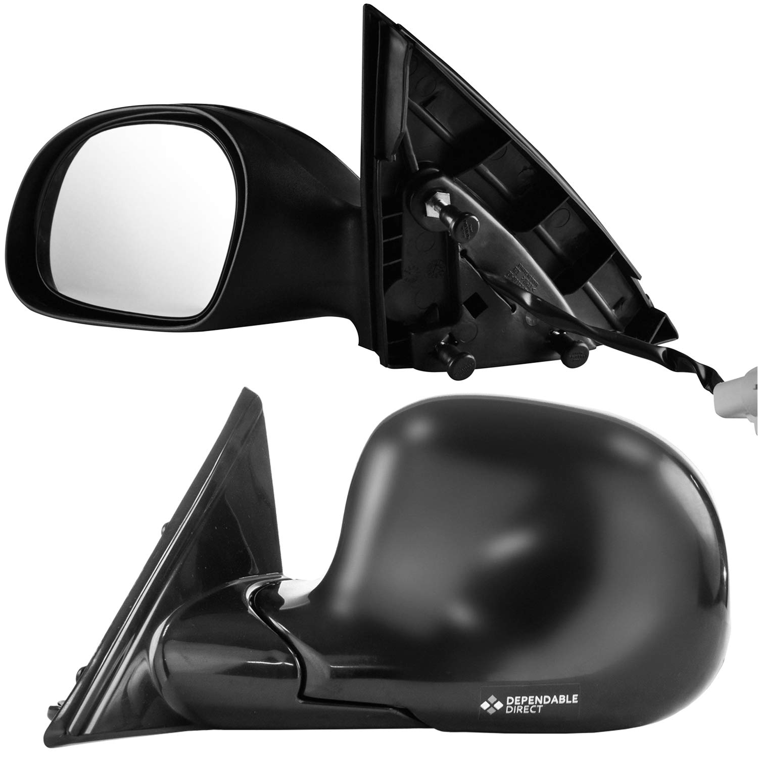 Driver Side Textured /& Unpainted Cover Side View Mirror for 2000-2007 Ford Taurus 2000-2005 Mercury Sable