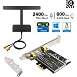OKN WiFi 6 AX200 802.11AX PCIe WiFi Card with Bluetooth 5.0 PCI-E WiFi Adapter Dual Band 5GHz/2.4GHz for Desktop, Support Windows 10 64bit / Linux