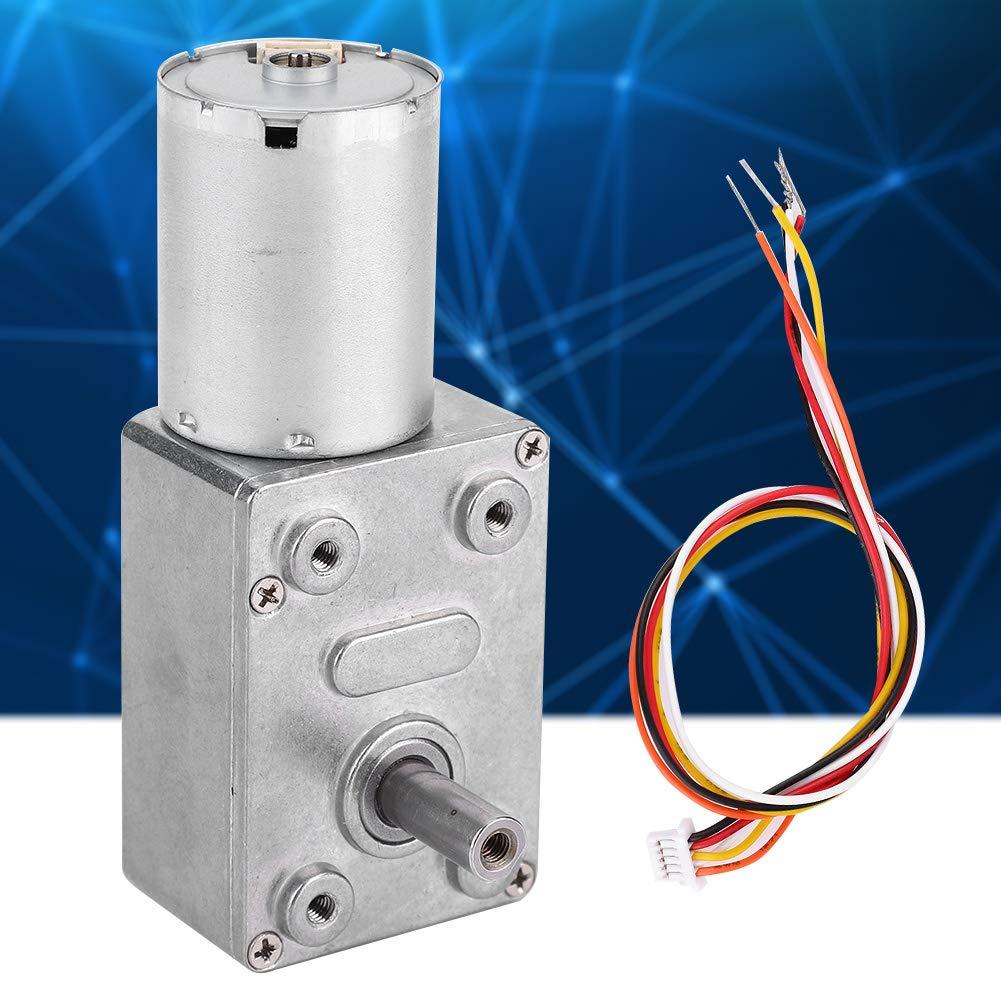 DC 12//24V Brushless Worm Motor Speeds Reduction Gear Motor 4~150Rpm for Robots Locks 24V-10 Gear Motor