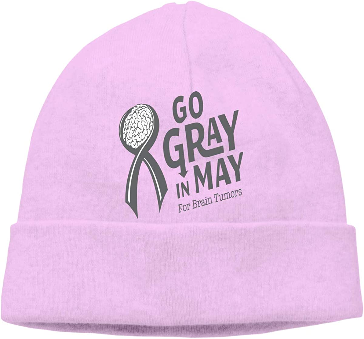 Unisex Go Gray in May Soft Skull Beanie Cap Soft Hat