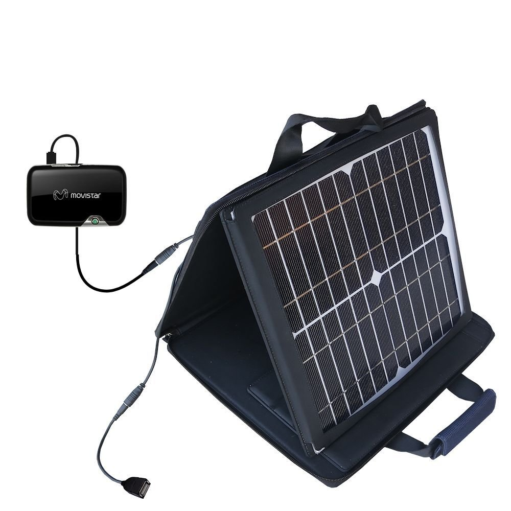 Gomadic SunVolt Powerful and Portable Solar Charger suitable for the Novatel Mifi 2372 - Incredible charge speeds for up to two devices by Gomadic