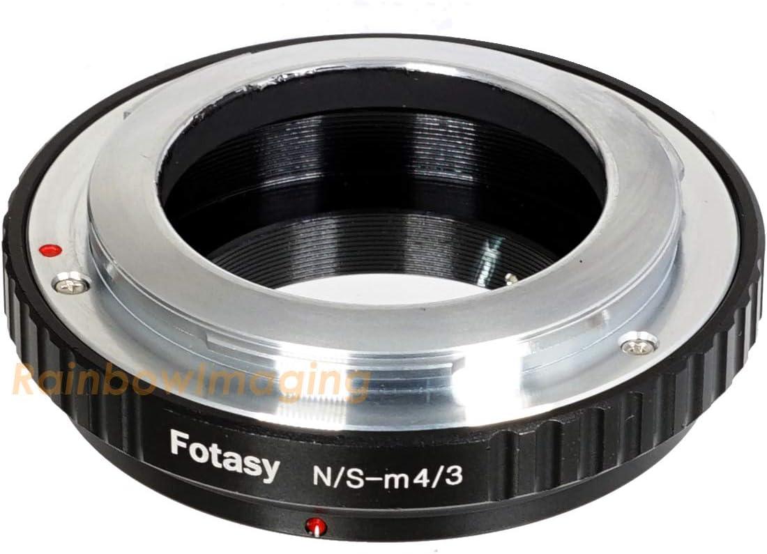 for Olympus E-PL8 E-PL9 E-M1 E-M5 E-M10 I II III E-PM2 E-PM1 Pen-F E-M1X// Panasonic G7 G9 GF8 GH5 GX7 GX8 GX9 GX85 GX80 GX850 G90 G91 MFT Converter Fotasy Canon FD Lens to M4//3 Adapter Tripod Mount
