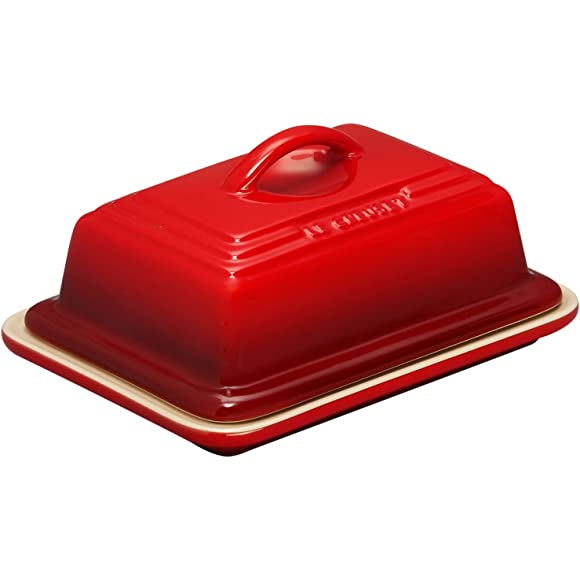 Le Creuset Stoneware Butter Dish Cerise Red
