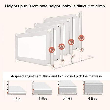 Barandilla de la Cuna, Protector de Seguridad de la barandilla de la Cama de elevación Vertical, Barandilla de la Cama anticaída para bebés y niños (1 Pieza): Amazon.es: Hogar