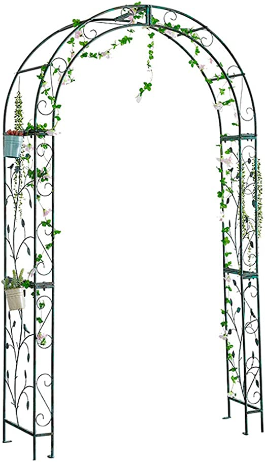XLOO Arco de jardín, árbol de jardín para Varias Plantas trepadoras, Hacer el Viejo Retro, tamaño Grande, Arco de Metal para Interior y Exterior, decoración de Boda, Fiesta, Fiesta: Amazon.es: Jardín