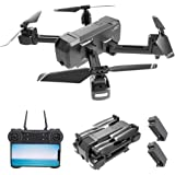 GoolRC KF607 WiFi FPV RC Drone with 4K HD Camera Foldable Drone Optical Flow Positioning Altitude Hold MV Editing RC Quadcopter with 2 Batteries