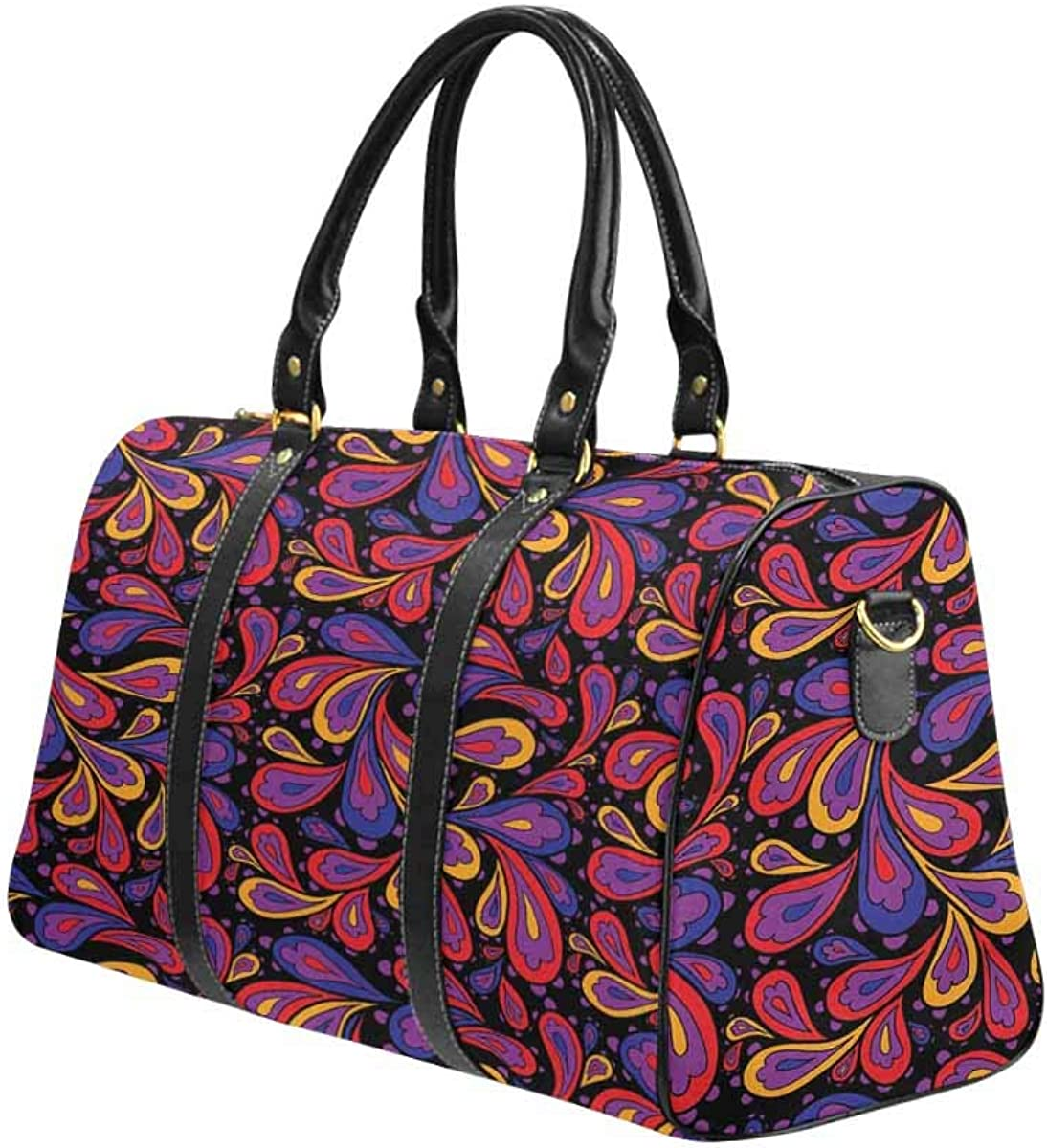Blue Paisley Print Weekender Bag