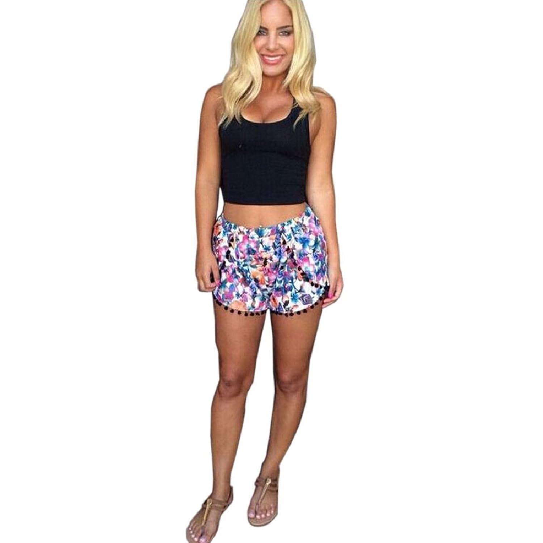 Amlaiworld Femmes Femme femmes pantalons chauds Shorts d'été Pantalon court taille haute