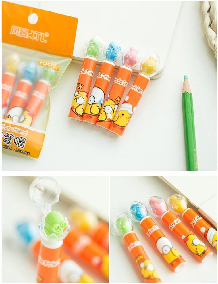 un set-Doraemon Sipliv fumetto matita estensore matita estensione per i bambini scuola arte scrivere strumento 4 Pack 16 pezzi