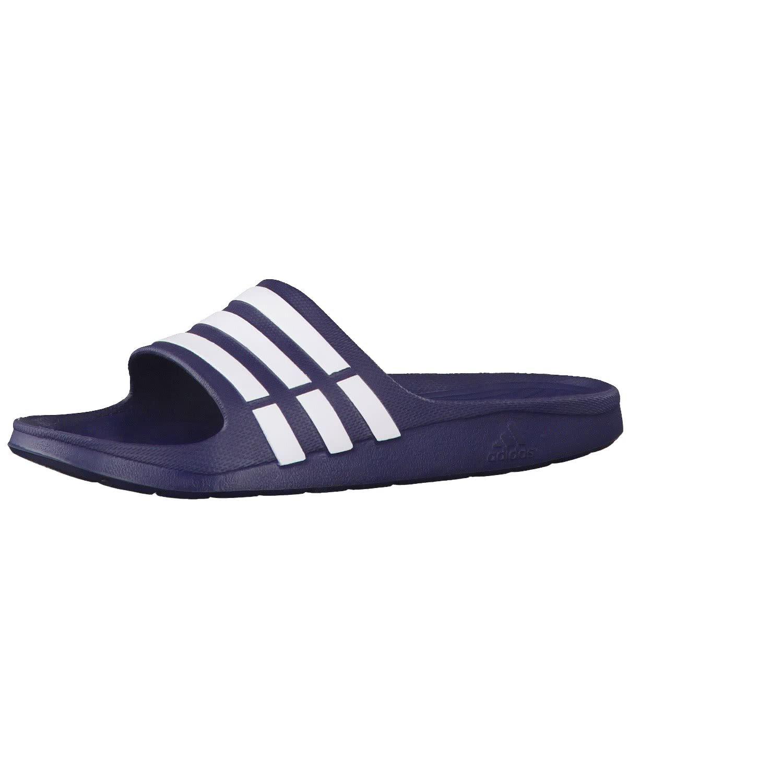 adidas Tongs Duramo Slide Marine/Blanches - taille 8